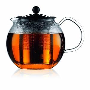 Bodum Assam 34-Ounce Glass Tea Press with Stainless-Steel Filter