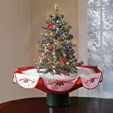 Brylanehome Snowing Holiday Tabletop Tree With Music