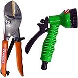 Visko GTK Garden Tool Set (Green, Black And Orange, 2-Pieces)