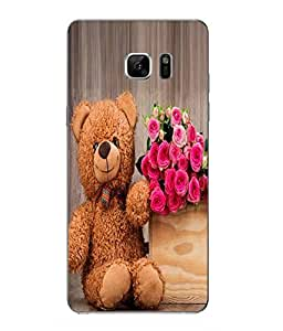Make My Print Love Printed Pink Hard Back Cover For Samsung Galaxy Note 7