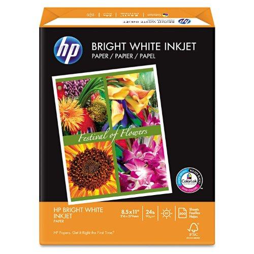HP Inkjet Paper, 97 Brightness, 24 lb, Letter Size (8.5 x 11), Ream, 500 Total Sheets (HPB1124)