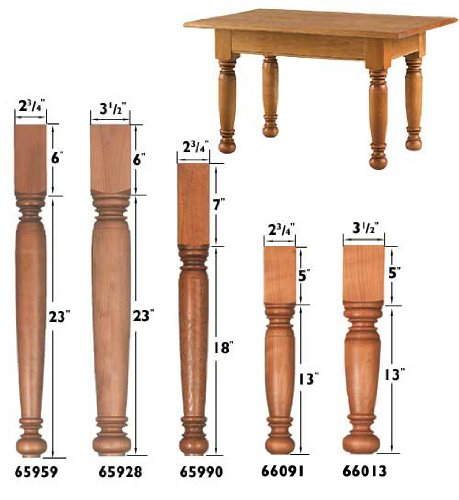 Long Coffee Table Legs: Furniture Legs: Farmhouse Large Coffee Table Leg