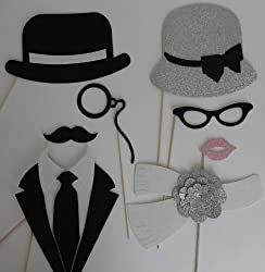 Mothers Day Photo Booth 8 Pc Photo Booth Party Props Mustache On A Stick Wedding Photo Booth Props Father And Mother Of The Bride