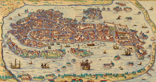 Old Venice Map Wooden Jigsaw Puzzle