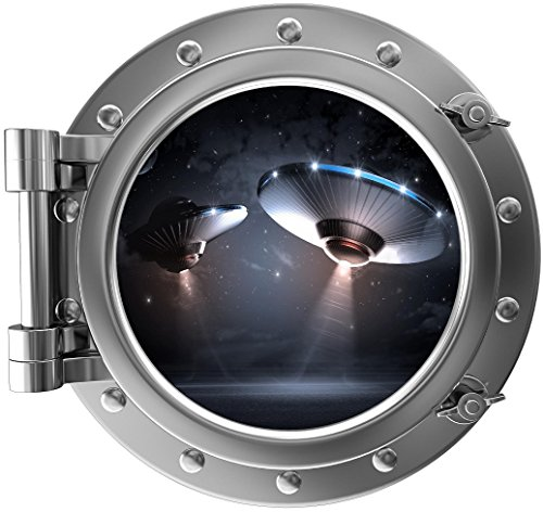 UFO Space View Portal - Vinyl Wall Decal