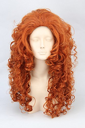 Long Curly Fiber Cosplay Full Wig