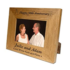 engraved 50th wedding ann has been added to your basket £ 24 99 free