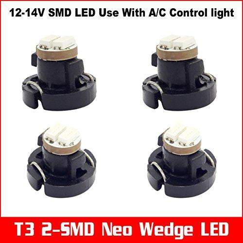 Partsam 4X Blue 1206 Smd T3 Neo Wedge Smd Led Cluster Instrument Dash Lights