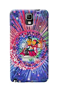 Fuson Amazing Pattern Girl Back Case Cover for SAMSUNG GALAXY NOTE 3 NEO - D4111