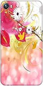 Snoogg abstract floral backgrounds Designer Protective Back Case Cover For Micromax Canvas Fire 4 A107