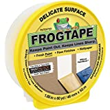 FrogTape 280222 Delicate Surface Painting Tape, Yellow, 1.88-Inch x 60-Yard Roll