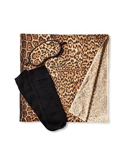 Sofia Cashmere Portofino Travel Set, Camel Leopard