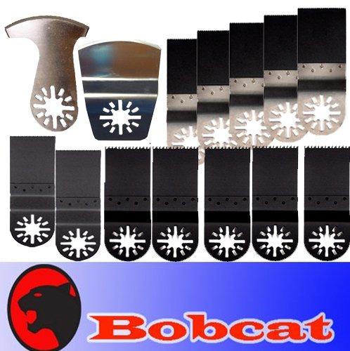 14 Pcs Set Bim Nail Eater / Wood Swood Oscillating Multi Tool Saw Blade For Fein Multimaster Bosch Multi-X Craftsman Nextec Dremel Multi-Max Ridgid Dremel Chicago Proformax Makita Blades