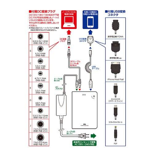 多摩電子工業 リチウム DE チャージ16000 AC充電器付 6コネクタ TL160K