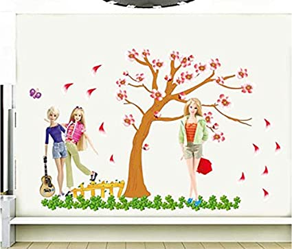 Barbie wall stickers india buy roommates barbie wall for Barbie wall mural