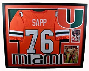 Warren Sapp Framed Jersey Signed JSA COA Autographed Miami Hurricanes