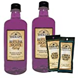 Village Naturals Therapy Restless Nights Relief Foaming Bath Oil & Body Wash, 16 fl oz (2 Bottle Bundle)
