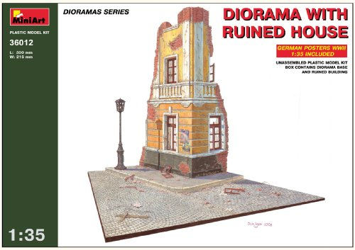Buy Low Price Dragon Models MiniArt 1/35 Diorama with Ruined House Figure (B001JD13HQ)