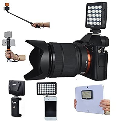 Dimmable Mini LED Video Light Rechargeable Pocket Spotlight for iPhone/ Samsung/ iPad/ Gopro/ DSLR Cameras