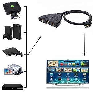 Amazon.com: HDE 3 Port 1080p HDMI Auto Switch Splitter Pigtail Cable