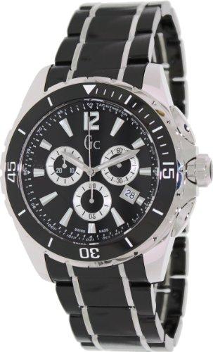 9fc7239df GUESS Gc Swiss Chronograph Sport Class XXL Black Ceramic Mens Watch G76002G2