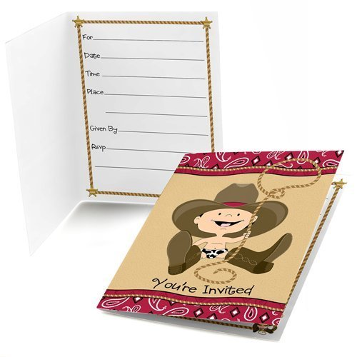 Little Cowboy Fill-in Party Invitations (8 count)