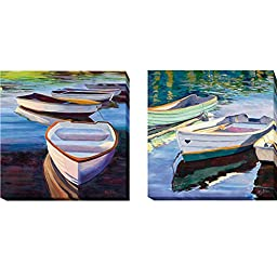 Morning Calm I & II by Kay Carlson 2-pc Premium Gallery-Wrapped Canvas Giclee Art Set (Ready-to-Hang) (Oversize)