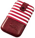Qiotti Luxury Style Etui pour Samsung Galaxy S3 GT-I9300/S4 GT-I9505 Rouge Bande
