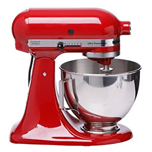 kitchenaid ksm100pser ultra power plus stand mixer empire red amazon