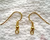 22K Gold Plated Surgical Steel Hypo-Allergenic Earring Hooks (100)