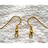 22K Gold Plated Surgical Steel Hypo-Allergenic Earring Hooks (100) ~ Beadaholique