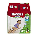 HUGGIES Little Movers Diaper Pants, Size 5, 128 Count (One Month Supply)