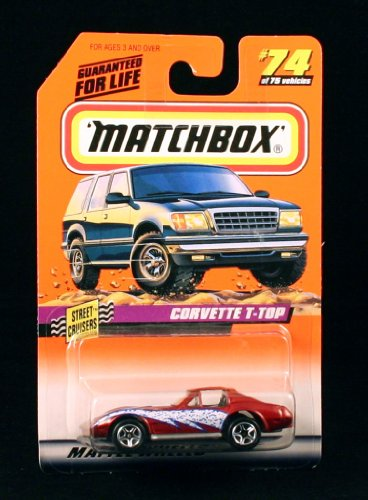 CORVETTE T-TOP * RED * Street Cruisers Series 10 MATCHBOX 1998 Basic Die-Cast Vehicle (#74 of 75) - 1
