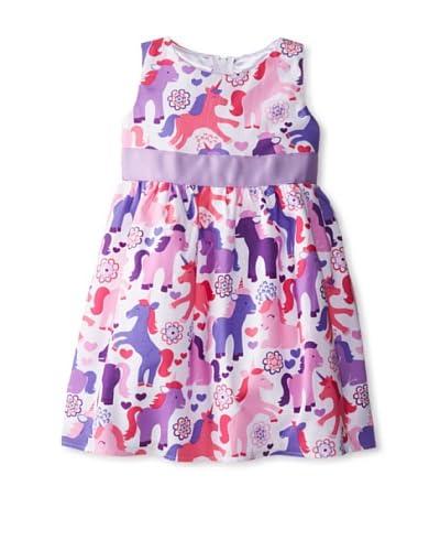 Tilly & Jax Girl's Unicorn Empire Waist Dress  [Multi]