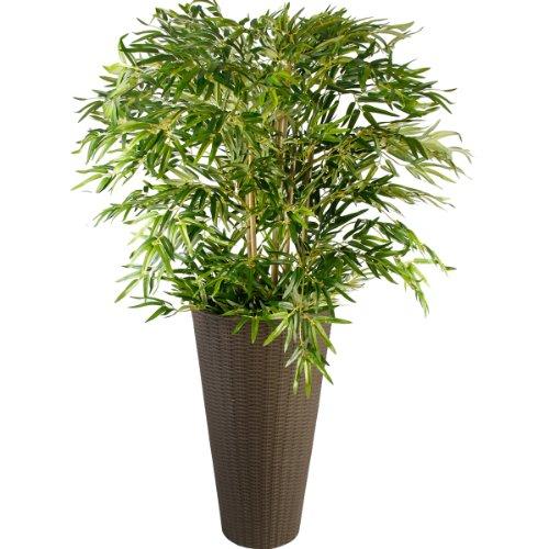 Rattan Blumentopf Übertopf Blumenkübel Pflanzenkübel in verschiedenen Ausführungen (Braun Groß)
