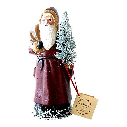 Alexander Taron Home Seasonal Décorative Accessories Schaller – Santa w Old Coat – 8″H x 3.5″W x 3.5″D