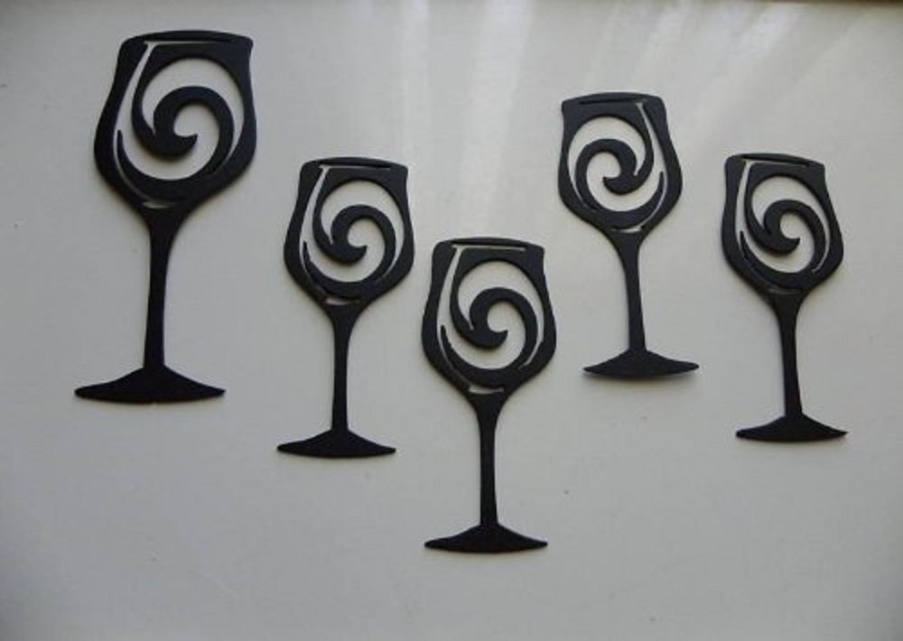 Wine Glass Wall Metal Art Decorating The Beautiful Way