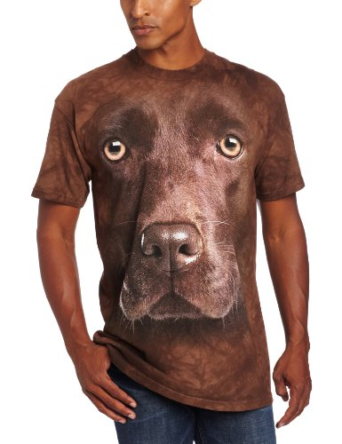 The Mountain Maglietta Chocolate Lab Face Dogs Adulto Unisex XL