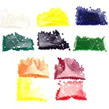 Ten Bags of Crystal Soil Water Beads (10 Colors) 30 Grams Rainbow Mix