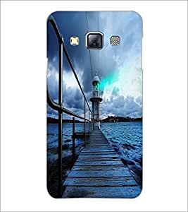 PrintDhaba Wooden Bridge D-2337 Back Case Cover for SAMSUNG GALAXY A3 (Multi-Coloured)