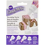 Wilton 1904-1021 5-Piece Candy Melt Decorating Tip Set