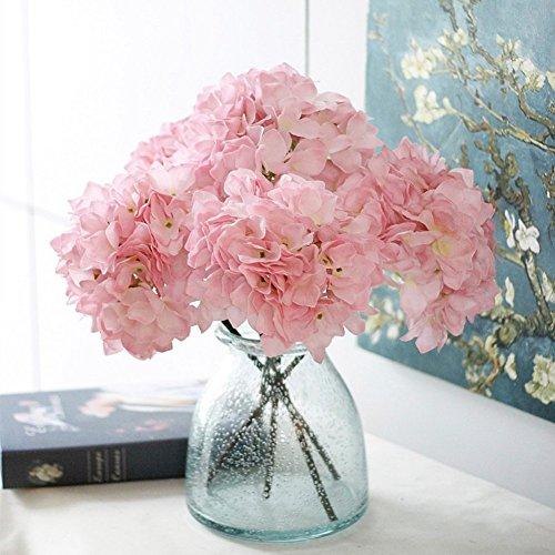 2 blumenstrau 42cm 16 5 artificial hortensie richer. Black Bedroom Furniture Sets. Home Design Ideas