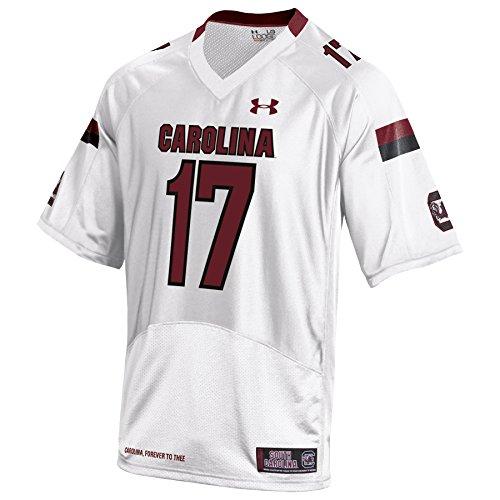 NCAA South Carolina White Replica Jersey