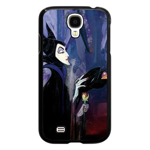 Maleficent Samsung Galaxy S4 Case, Onelee [Never fade] Disney Sleeping Beauty Maleficent Samsung Galaxy S4 Black Plastic Case [Scratch proof] [Drop Protection] (Samsung Galaxy S4 Drop Protection compare prices)