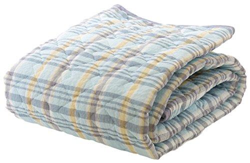 mofua natural 先染め しじら織り 敷きパッド ダブル ブルー 55320302