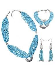 Voice Of Beauty -Fashion Necklace With Matching Earrings And Bracelet