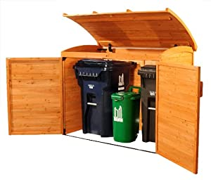 Storage Shed, Solid Wood, Decay Resistant : Trash Shed : Patio, Lawn