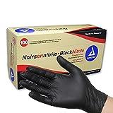 Dynarex Black Nitrile Exam Gloves, Large, 100 Count