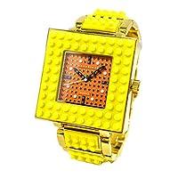 [ナノブロック]nano block デコれる 腕時計 [腕回り16.5cm調整済み品][カスタム品]  NA-2629 (イエロー×ゴールド(NA-2629YE))