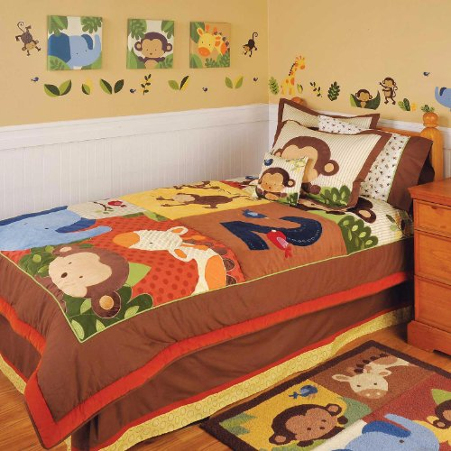 Fantastic Deal! Jungle 123 Full Quilt and 2 Pillow Shams by Kidsline
